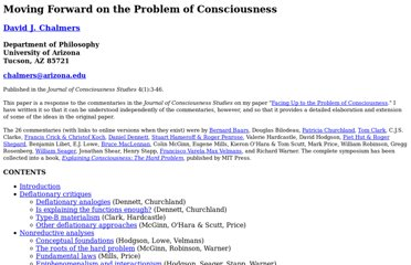 philosophy papers on consciousness