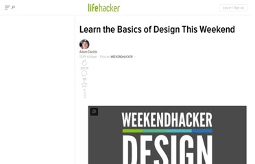 http://lifehacker.com/5739492/learn-the-basics-of-design-this-weekend