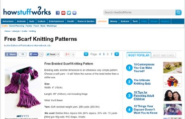 http://tlc.howstuffworks.com/home/free-scarf-knitting-patterns5.htm