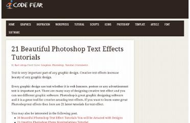 http://www.codefear.com/graphics/photoshop-text-effects-tutorials/
