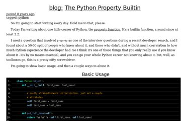 http://adam.gomaa.us/blog/2008/aug/11/the-python-property-builtin/