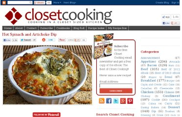 http://www.closetcooking.com/2008/11/hot-spinach-and-artichoke-dip.html