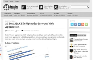 http://blog.insicdesigns.com/2010/02/10-best-ajax-file-uploader-for-your-web-application/