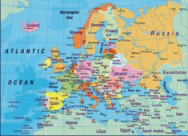 europa asien karta Karta över Europa | Pearltrees europa asien karta