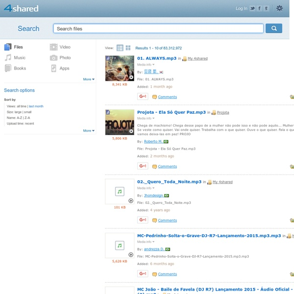 4shared.com - search and download music, video, photo