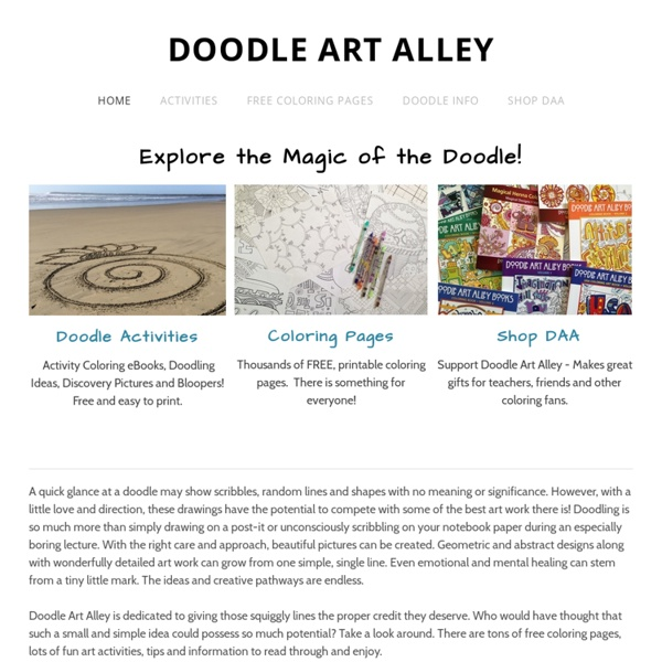 Doodle Art Explore The Magic Of The Doodle Pearltrees