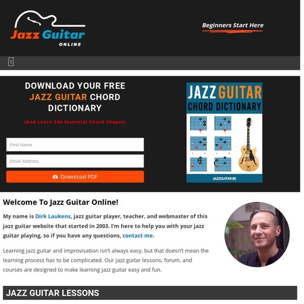 Guitar guitar chords tuner : Jazz Guitar Online: Free Online Jazz Guitar Lessons, Tabs, Chords ...