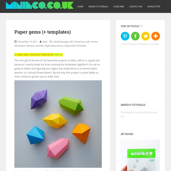 Paper gems (+ templates) | Pearltrees