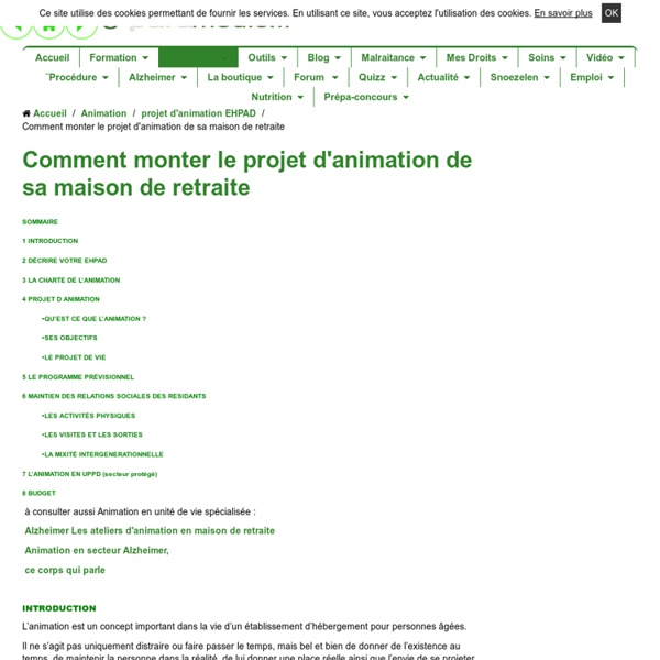 Exemple d animation en maison de retraite avie home for Animation en maison de retraite