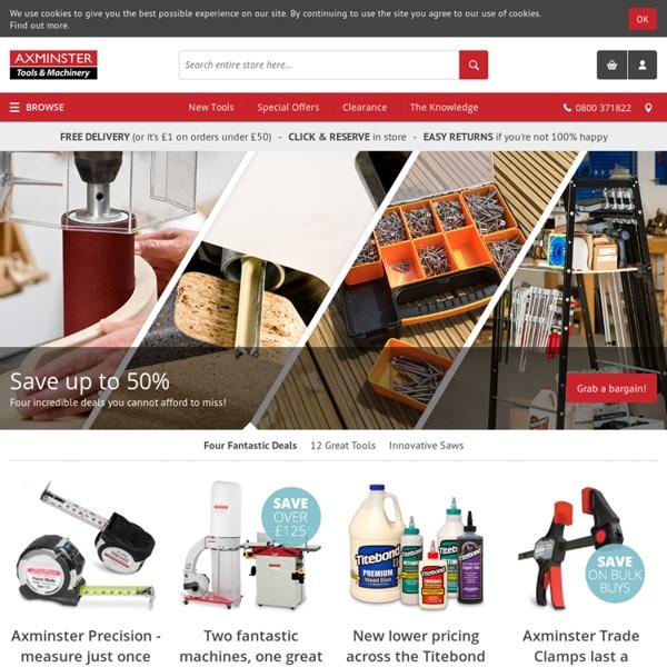 Tools, Hand Tools, Woodworking, Metalworking & more! | Axminster.co.uk