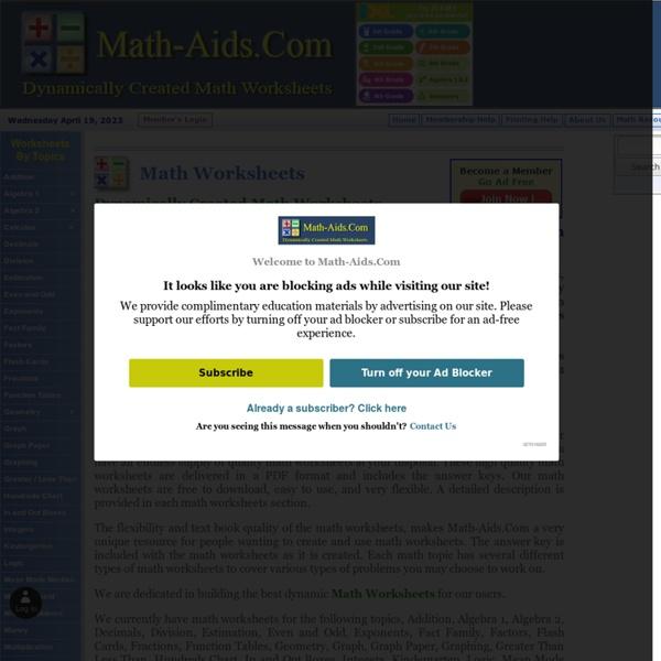 Worksheet #612792: Create Math Worksheets Online – Math Worksheets ...