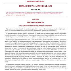 Marx's Theory of Historical Materialism
