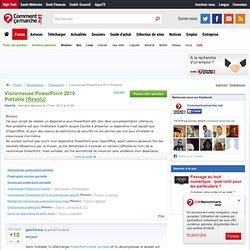 VISIONNEUSE POWERPOINT PORTABLE TÉLÉCHARGER 2010
